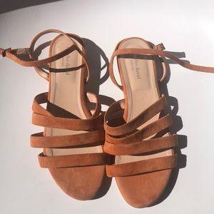 Never worn Charles David peach suede sandal